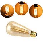 YUNLIGHTS 2 Pack Dimmable Edison Lampe ST64 220-240V 40W 140lm E27 Edison Ampoule Antique Lampe Filament Vintage Blanc Chaud de la marque YUNLIGHTS image 1 produit