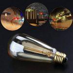 YUNLIGHTS 2 Pack Dimmable Edison Lampe ST64 220-240V 40W 140lm E27 Edison Ampoule Antique Lampe Filament Vintage Blanc Chaud de la marque YUNLIGHTS image 2 produit