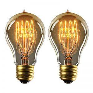 YUNLIGHTS Dimmable Edison Lampe A19 220-240V 40W 140lm E27 Edison Ampoule Antique Lampe Blanc chaud- 2 Pack de la marque YUNLIGHTS image 0 produit