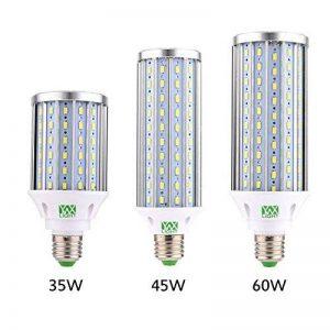 YWXLight LED Ampoule à maïs, lampe de rue LED, projecteur à 360 degrés, pour garage, allée, entrepôt, ampoule à LED Sch LED, 35W, 45W, ampoule LED 60W, (E26 / E27) Cold White 5500K-6500K, (35W-Lumière froide) de la marque YWXLight image 0 produit