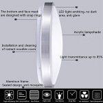ZHMA Plafonnier affleurant de 24W, lampe de plafond en aluminium de LED, voyant imperméable de LED, blanc frais, lampe de plafond moderne de salle de bains, basse consommation. de la marque ZHMA image 3 produit