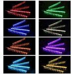 ZISTE 4 pièces Multi Couleur LED Intérieur Sous le Tableau de Bord kit d'éclairage, avec fonction active son et télécommande sans fil,Chargeur Voiture 2 Ports de la marque ZISTE image 1 produit