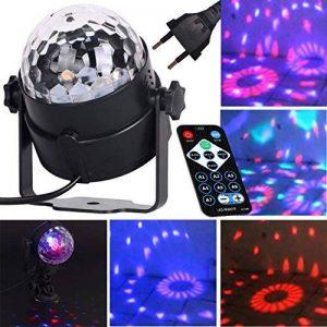ZITFRI Lumière Discotheque, Boule Disco, Projecteur Lumière LED, Éclairage de Scène, Ampoule Boule Cristal à Commande Sonore Lampe pour Disco Soirée Anniversaire de la marque ZITFRI image 0 produit