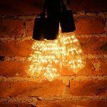 ZMH Rétro Edison Ampoule LED E27 3W ST64 Antique Lampe Décorative Bars de bulbes, Hôtels, karaoké, restaurant, café,Noël vintage Ampoules décoratives Blanc Chaud Non Dimmable de la marque ZMH image 4 produit