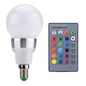 Zogin 3W RGB E14 Lampe à LED Multicolore Ampoule globe de Haute Puissance Ampoule d'Ambiance Led lumière avec Télécommande IR sans fil [Classe énergétique A] de la marque ZOGIN image 0 produit