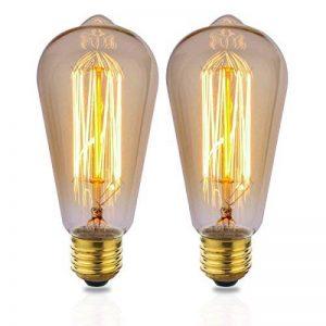 ZOOVQI 2 X Edison Ampoule E27 ST64 25W Ampoules à incandescence 220V Rétro Antique Lampe de la marque ZOOVQI image 0 produit