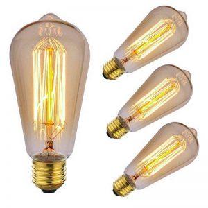 ZOOVQI 4 X Edison Ampoule E27 ST64 60W Ampoules à Incandescence 220V Rétro Antique Lampe de la marque ZOOVQI image 0 produit