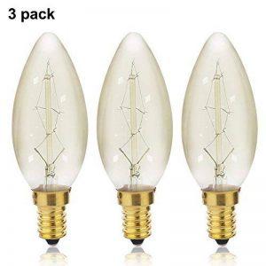 ZOOVQI E14 C35 25W Ampoule Vintage Edison Lampe à Incandescence Blanc chaud,3 Pack de la marque ZOOVQI image 0 produit